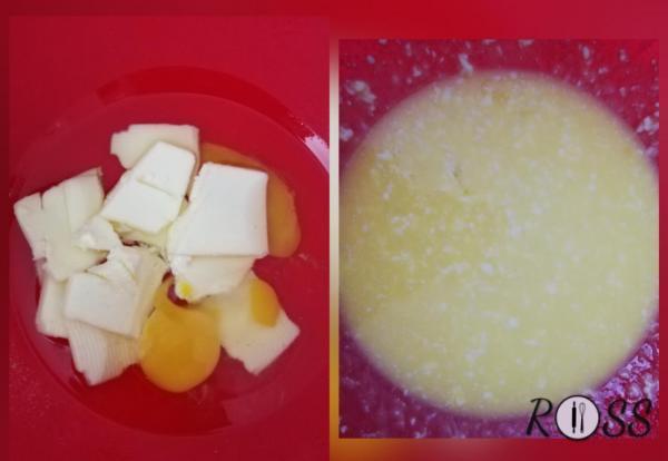 In una terrina amalgamate per bene il burro ammorbidito con l'uovo ed aggiungete anche l'olio.