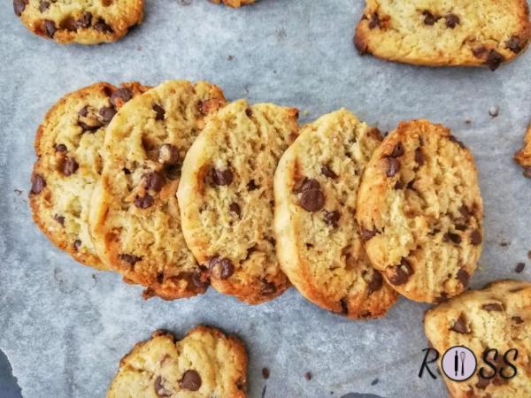 Biscotti con gocce di cioccolato (a basso indice glicemico)