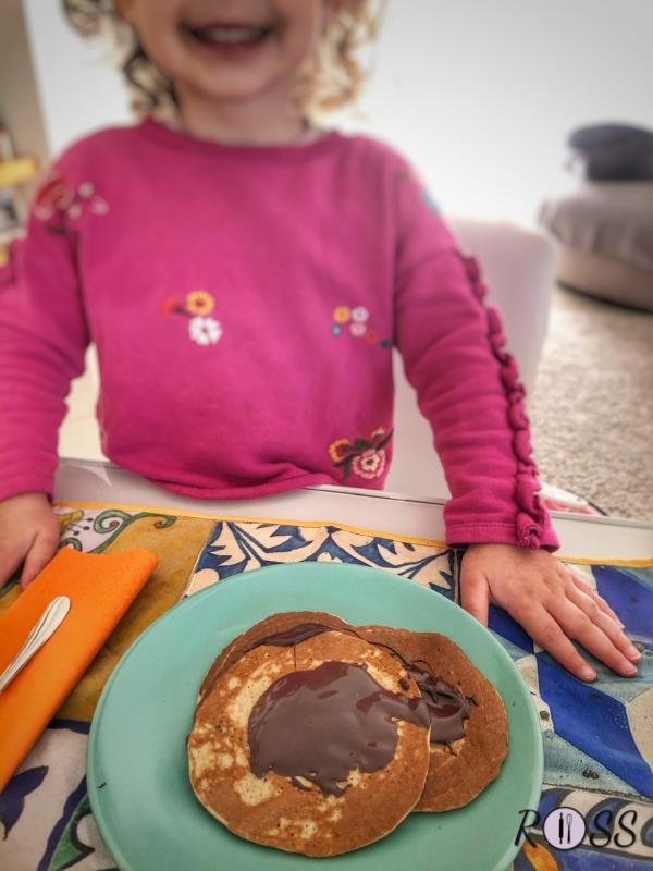 Pancakes con avena(senza lattosio e senza lievito)