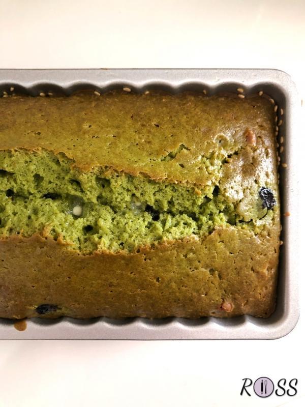Plum cake al tè matcha